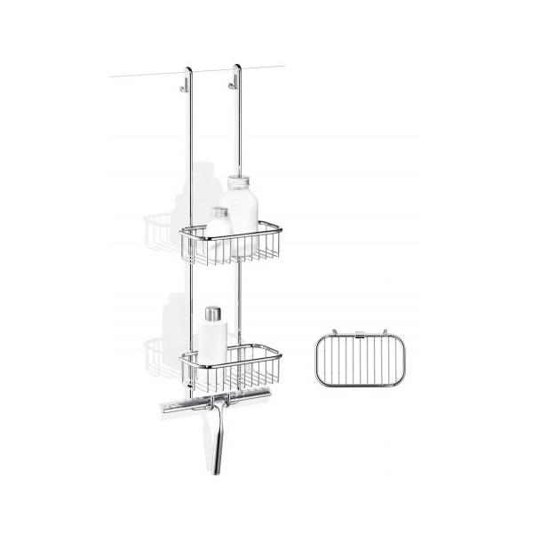 giese bodyguard mit haken und wischer 2 duschk rbe ablagesystem 30428 02 ebay. Black Bedroom Furniture Sets. Home Design Ideas