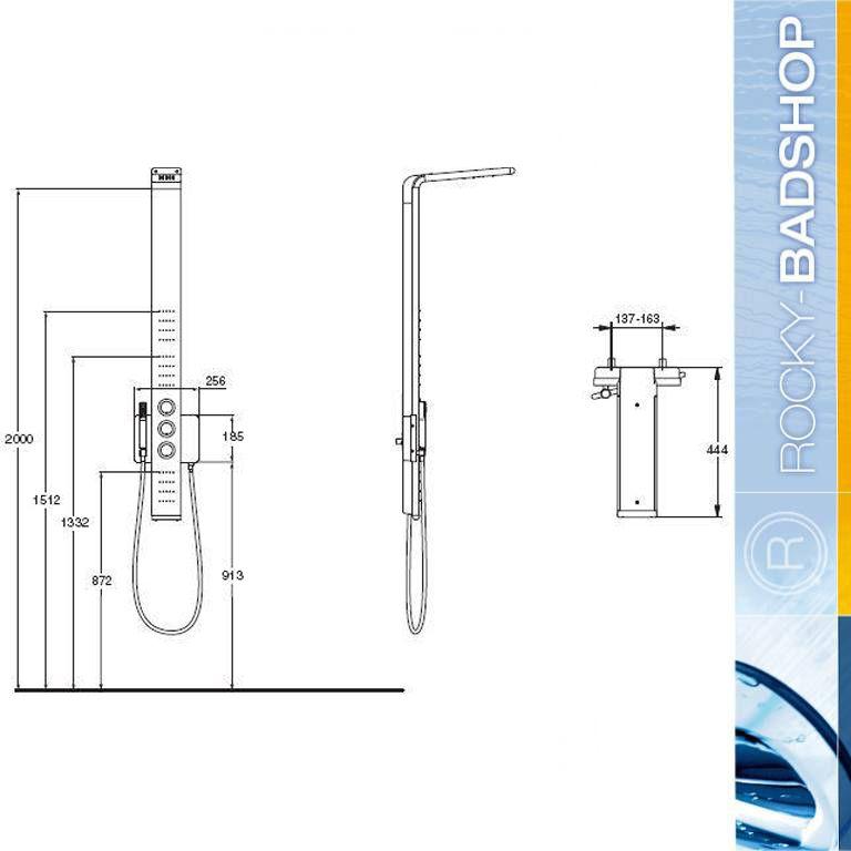 duschsystem ideal standard moments duschpaneel k6190aa ebay. Black Bedroom Furniture Sets. Home Design Ideas