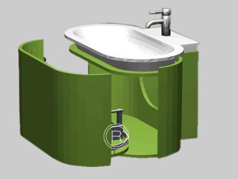 badm bel burgbad lavo mineralguss waschtisch unterschrank ebay. Black Bedroom Furniture Sets. Home Design Ideas