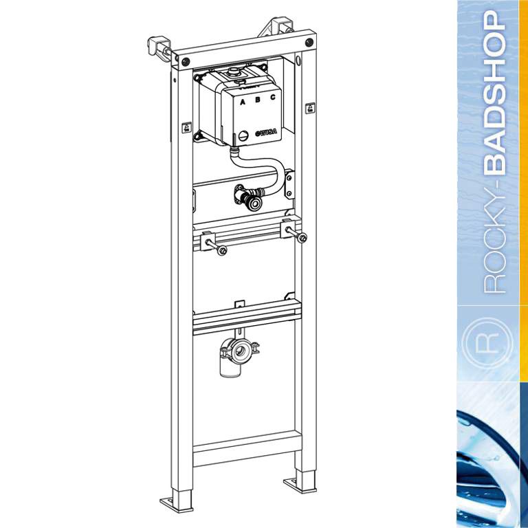 urinal mit deckel komplett set inkl vorwandelement f r trockenbau ebay. Black Bedroom Furniture Sets. Home Design Ideas