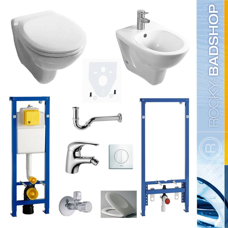 vorwandelement set wc bidet komplettset inkl zubeh r ebay. Black Bedroom Furniture Sets. Home Design Ideas