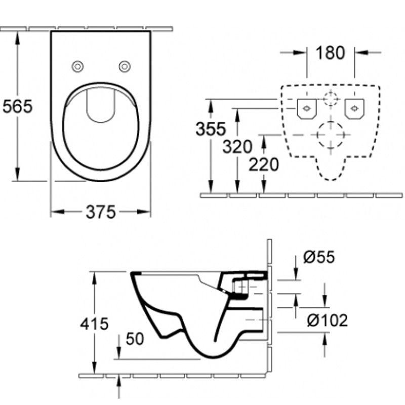 villeroy boch subway 2 0 wand wc sp lrandlos directflush 5614r0 wc sitz ebay. Black Bedroom Furniture Sets. Home Design Ideas
