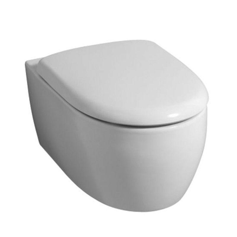 keramag 4u icon 203460 204060 wand wc sp lrandlos wc sitz softclose ebay. Black Bedroom Furniture Sets. Home Design Ideas