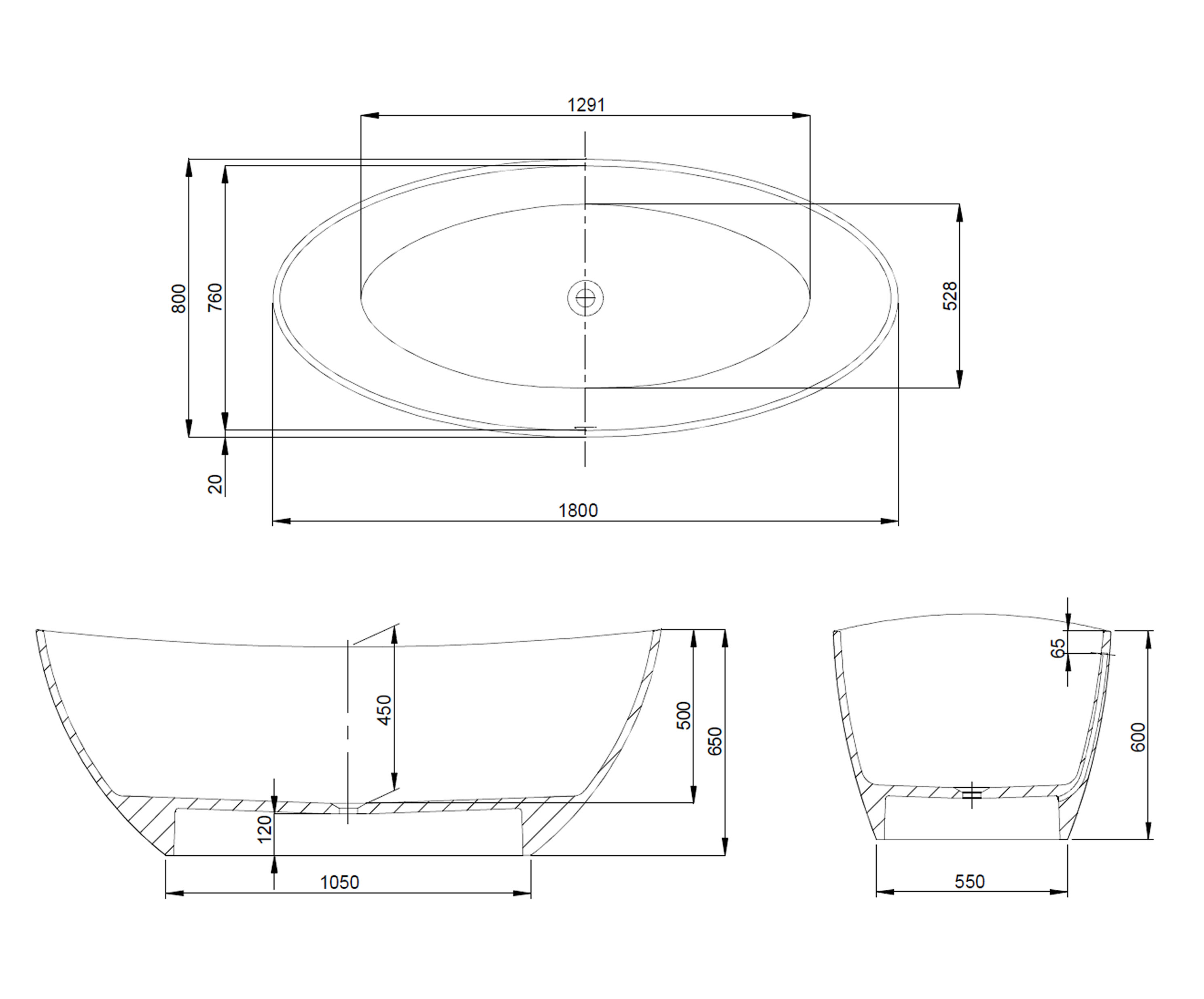 Hoesch Namur Badewanne : Hoesch freistehende badewanne namur solique oval
