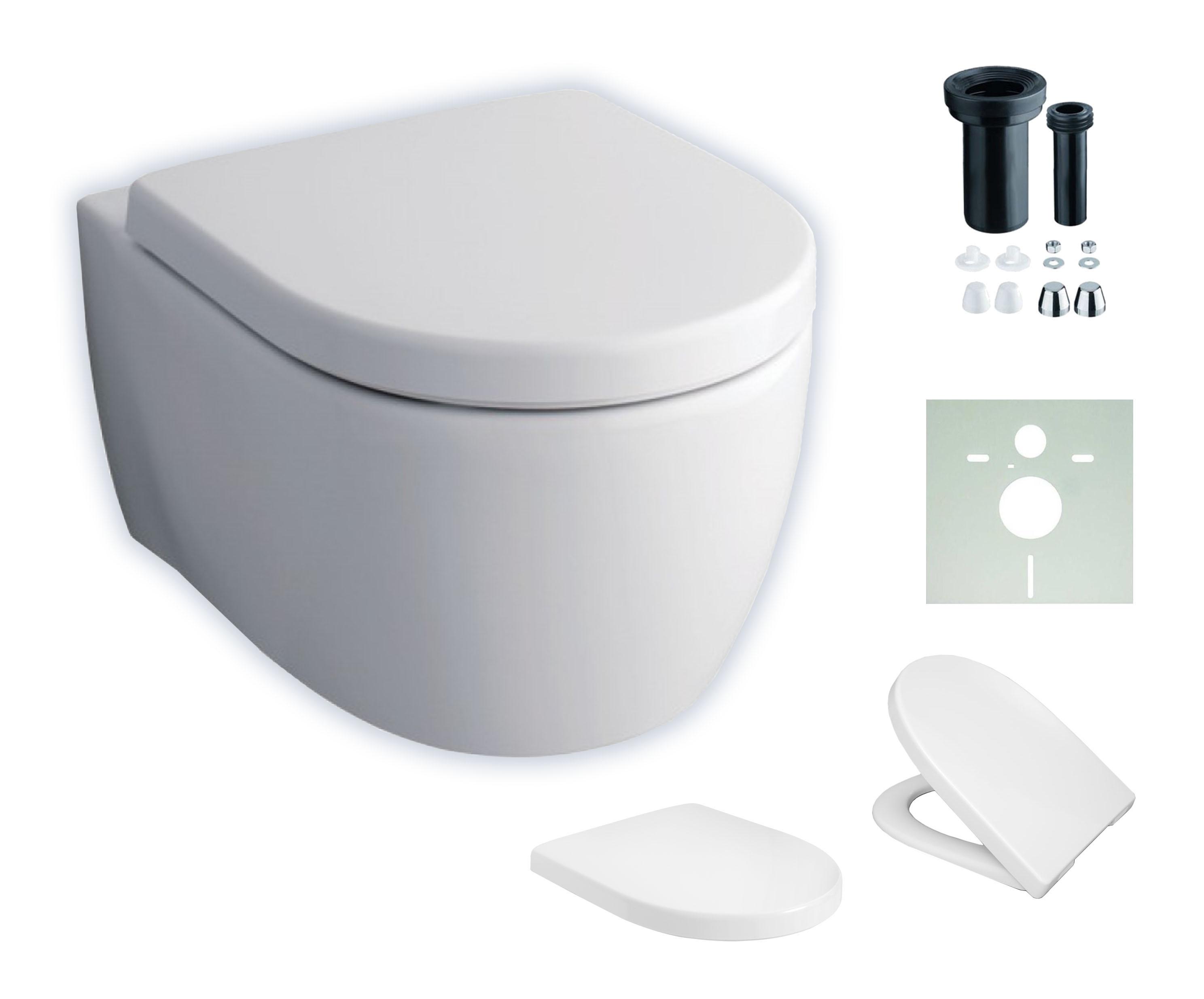 komplettset wand wc keramag icon sp lrandlos sitz. Black Bedroom Furniture Sets. Home Design Ideas