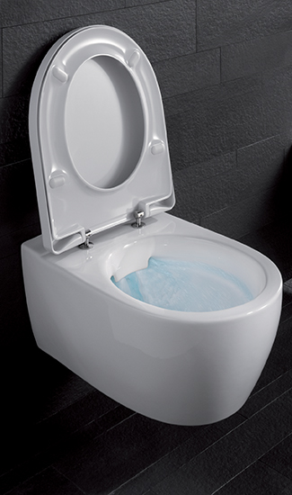 komplettset wand wc keramag icon sp lrandlos mit keratect sitz zub 204060600 ebay. Black Bedroom Furniture Sets. Home Design Ideas