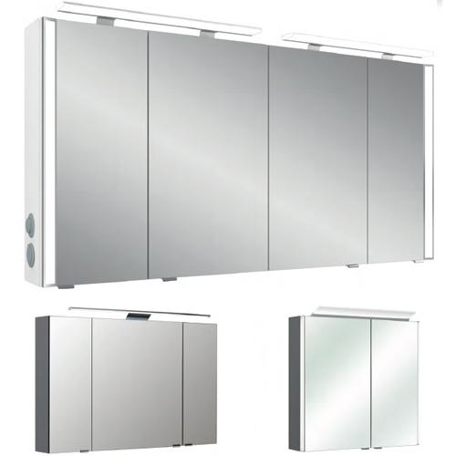 Neutrale Spiegelschränke