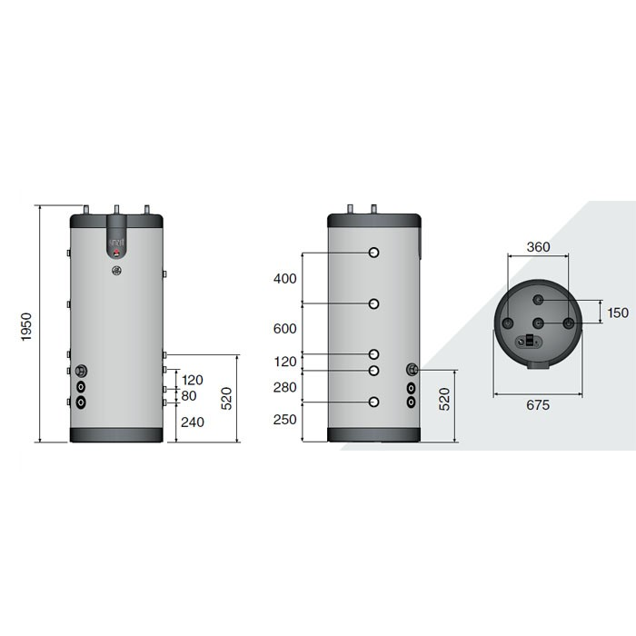ACV Speicher Smart Line Multi Energy SLME 400, 50 mm Hartschaumisolierung