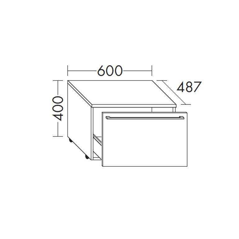 Burgbad Bel Rollcontainer PG2 Thermoformfront