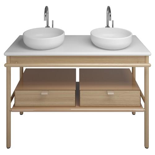 Burgbad Mya Keramik-Aufsatzwaschtisch inkl. Waschtischunterschrank 1200 (SFKI120)