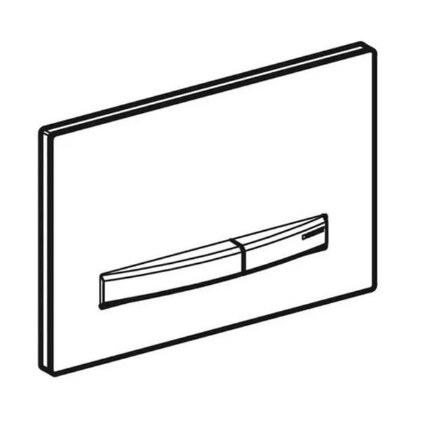 Geberit Betätigungsplatte Sigma50 für 2-Mengen-Spülung, Weiß, Metallfarbe rotgold