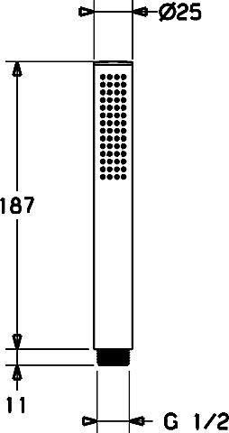 Hansa Handbrause Hansastilo 5439 1-strahlig, verchromt