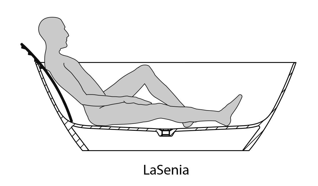 HO BW LaSenia 1800x900 freistehend Material Solique, weiß
