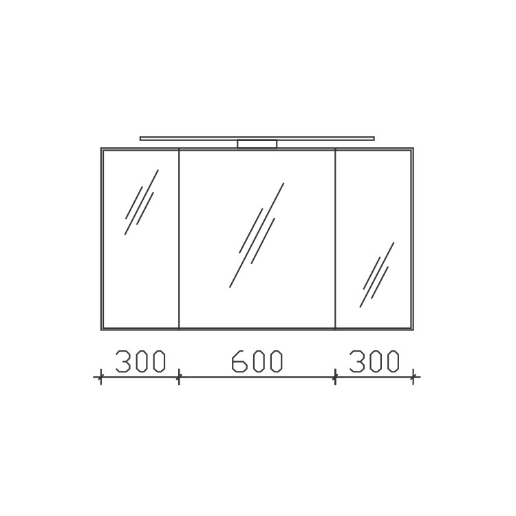 Pelipal Solitaire 6005 Spiegelschrank 1200