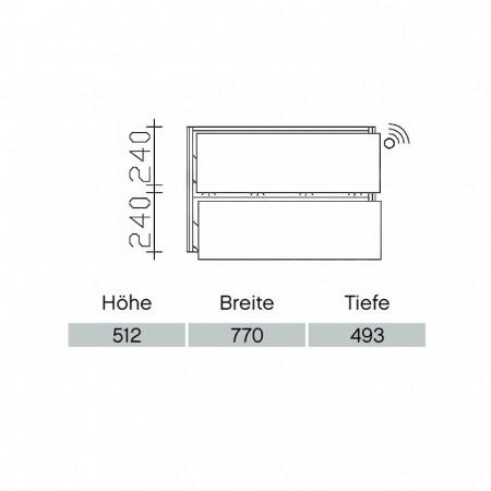 Pelipal Solitaire 6010 Waschtischunterschrank PG2 770mm mit Bewegungssensor