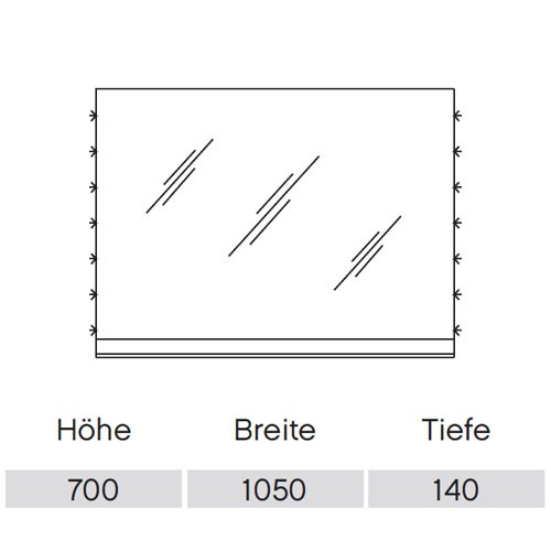 Pelipal Solitaire 6910 Flächenspiegel 1050