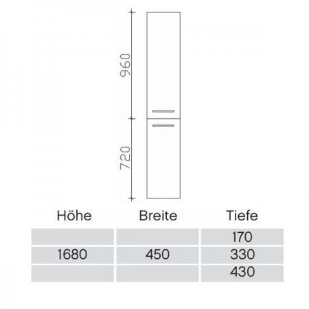 Pelipal Solitaire 7025 Hochschrank 170