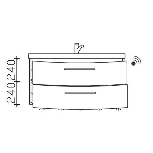 Pelipal Cassca Waschtischunterschrank inkl. LED-Beleuchtung 990 Basis X
