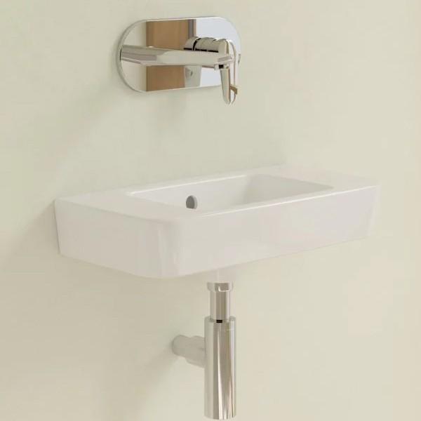 VB Handwaschbecken Compact O.novo 434252 500x250mm Eckig Weiß Alpin