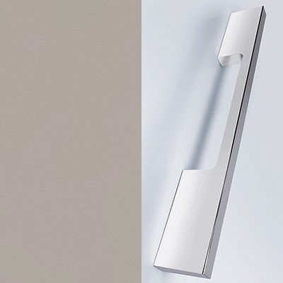 Eiche Dekor Cashmere Thermoform mit Stangengriff chrom - T45