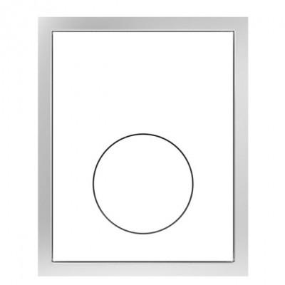 Betätigungsplatte Redonda weiß flächenbündig