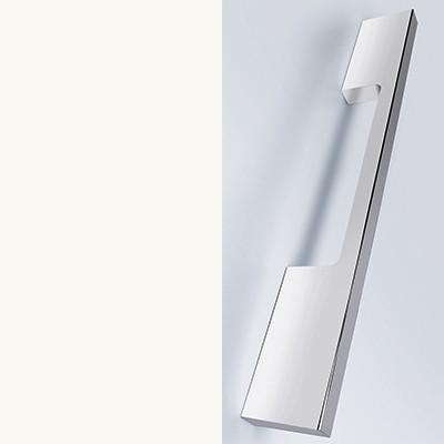 Weiß Matt Thermoform mit Stangengriff chrom - T2