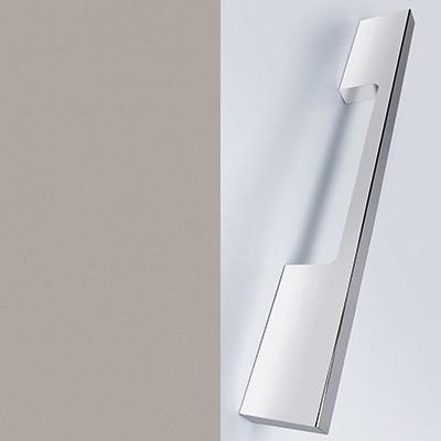 Basaltgrau Matt Thermoform Rückseite Front: Weiß Matt mit Stangengriff chrom - T44