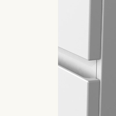 Weiß Matt Thermoform mit Griffmulde - T2