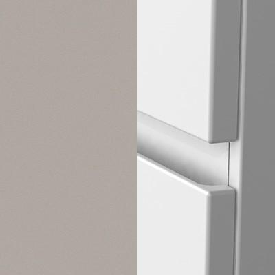 Basaltgrau Matt Thermoform Rückseite Front: Weiß Matt mit Griffmulde - T44