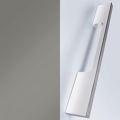 Grau Hochglanz Lack mit Stangengriff chrom - L28