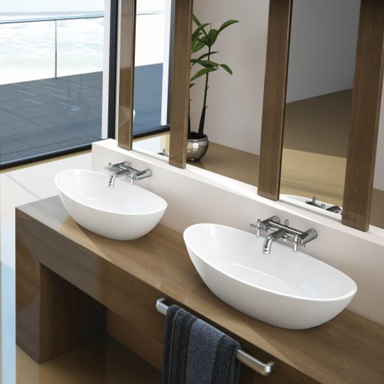 Hoesch Waschbecken Namur 600x350 Material Solique Weiss