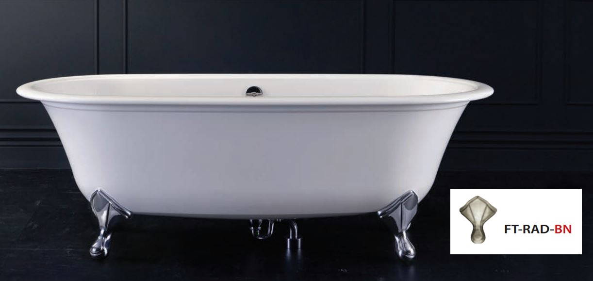 victoria albert radfort badewanne mit f en in nickel. Black Bedroom Furniture Sets. Home Design Ideas