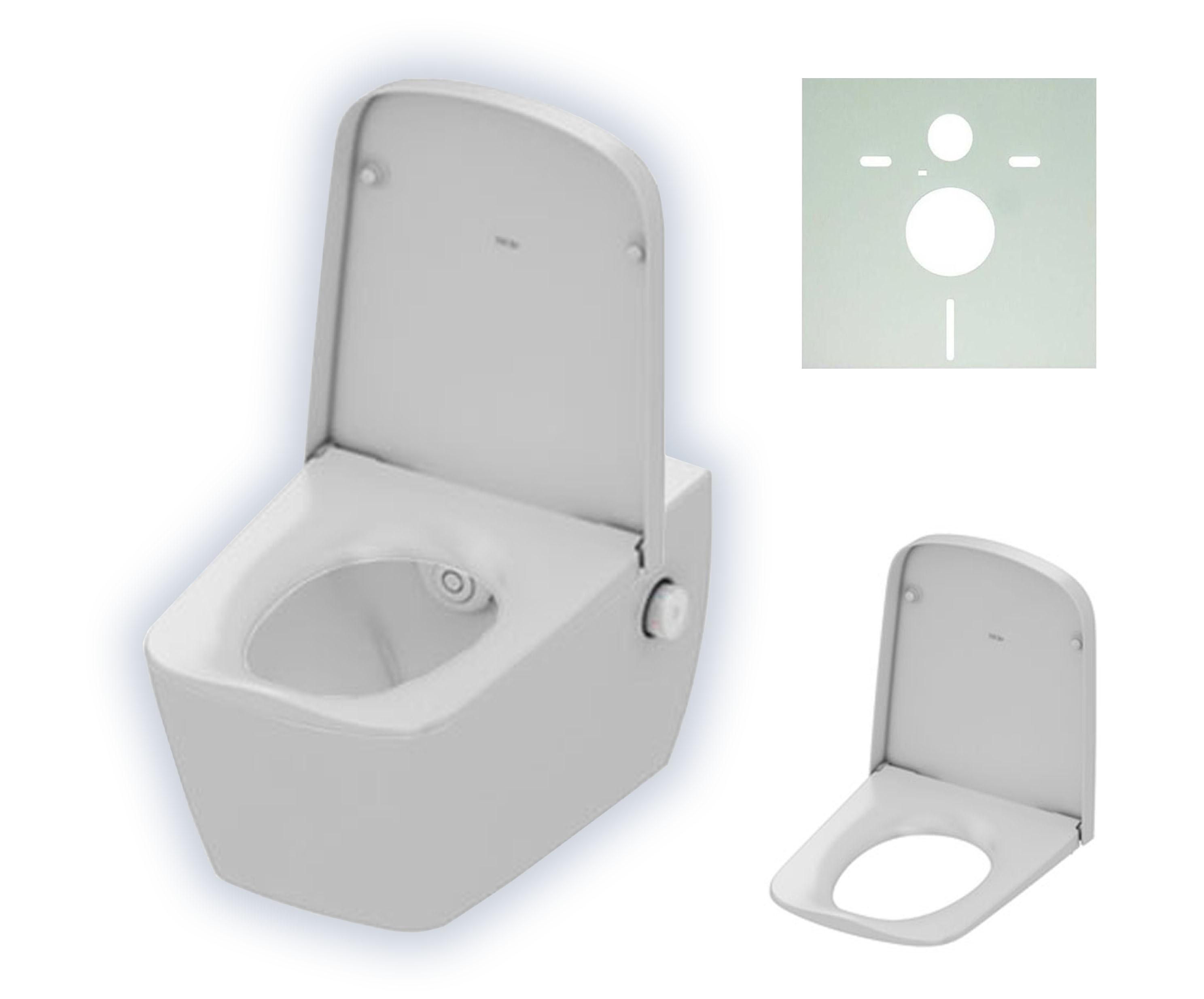 teceone wc keramik mit duschfunktion tiefsp ler wei. Black Bedroom Furniture Sets. Home Design Ideas