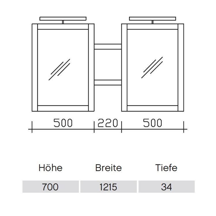 Pelipal Solitaire 9030 Flächenspiegel 1215