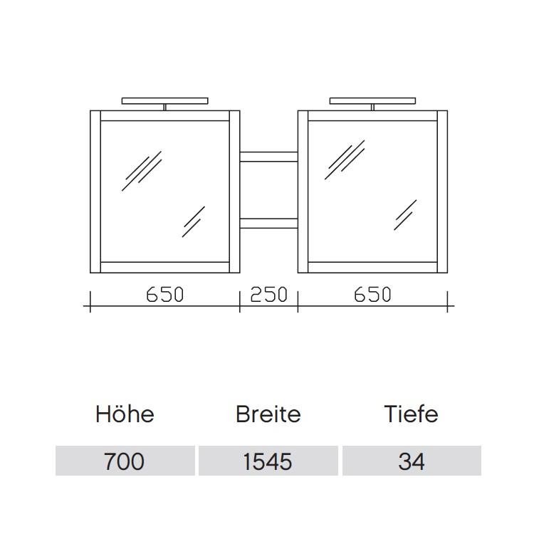 Pelipal Solitaire 9030 Flächenspiegel 1545