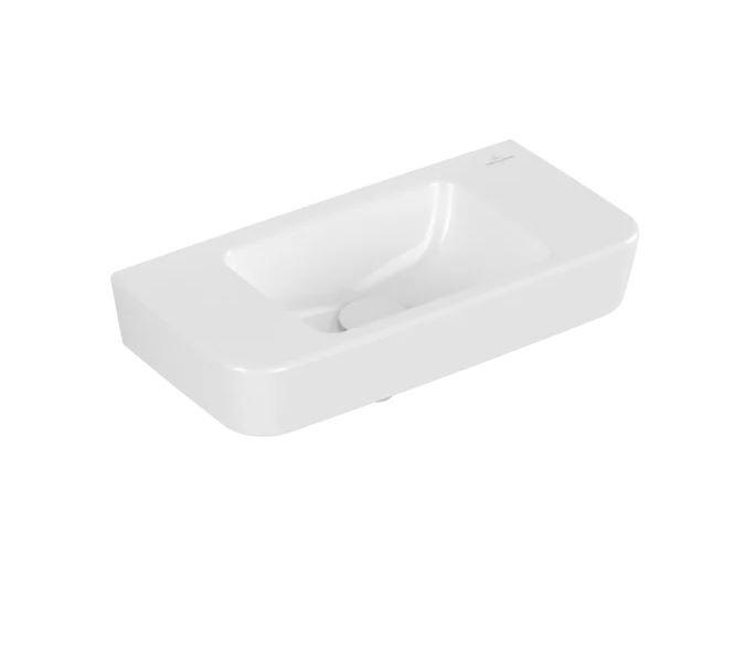 VB Handwaschbecken Compact O.novo 434253 500x250mm Eckig Weiß Alpin CeramicPlus