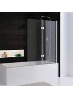 Favorit Nova Badewannenaufsatz, 2-teilig Version 90 - Echtglas klar hell (50)