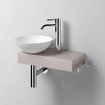 Alape Waschplatz Piccolo Novo links weiß/Auster Matt