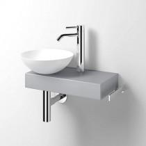 Alape Waschplatz Piccolo Novo links weiß/Himmelblau Matt