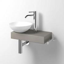 Alape Waschplatz Piccolo Novo links weiß/Kiesel Matt