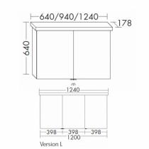 Burgbad Essento Spiegelschrank 1240 PG2 mit LED Waschtischbeleuchtung