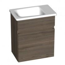 Burgbad Bel Gästebad Keramik-Waschtisch inkl. Waschtischunterschrank 430 PG2 (SFAA043)