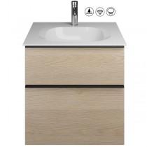Burgbad Fiumo Set Mineralguss-Waschtisch inkl. Waschtischunterschrank(SFXL062)