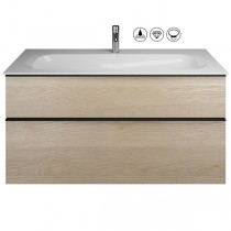 Burgbad Fiumo Set  Mineralguss-Waschtisch inkl. Waschtischunterschrank(SFXL122)