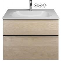 Burgbad Fiumo Set Mineralguss-Waschtisch inkl. Waschtischunterschrank(SFXN082)