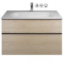 Burgbad Fiumo Set Mineralguss-Waschtisch inkl. Waschtischunterschrank(SFXN102)
