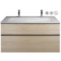 Burgbad Fiumo Set Mineralguss-Waschtisch inkl. Waschtischunterschrank (SFXO122)
