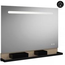 Burgbad Fiumo Spiegel/Leuchtspiegel 1000 mit horizontaler LED-Beleuchtung (SFXP100)