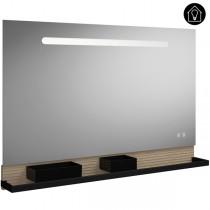 Burgbad Fiumo Spiegel/Leuchtspiegel 1200 mit horizontaler LED-Beleuchtung(SFXP120)