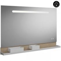 Burgbad Fiumo Spiegel/Leuchtspiegel 1200 mit horizontaler LED-Beleuchtung(SFXU120)